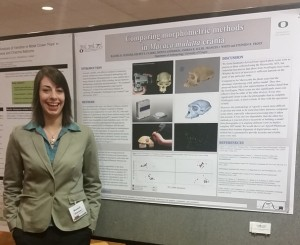 Rachel Glenzer at the American Association of Physical Anthropologists 2015 Annual Meeting.