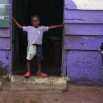 Young boy at a Nima school.