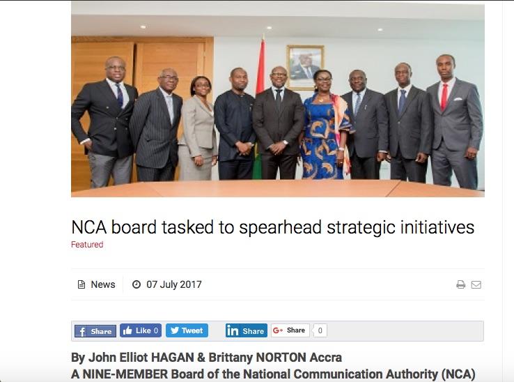 NCA Board Tasked to Spearhead Strategic Initiatives