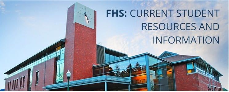 FHS: Current Student Resources & Information