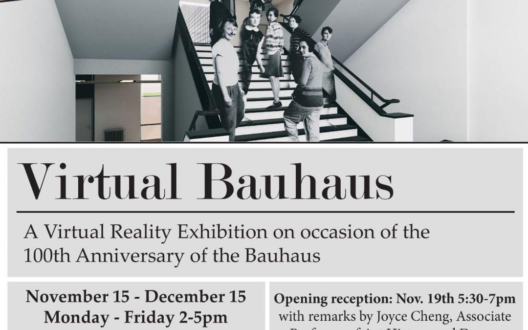 Virtual Bauhaus: Explore the Bauhaus School of Art & Design with Virtual Reality!