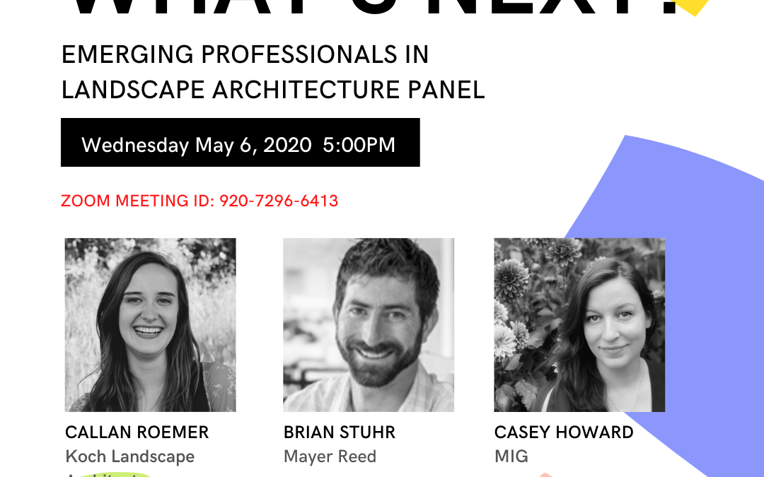 """What's Next?"" Emerging Professionals Panel 5/6 5PM"