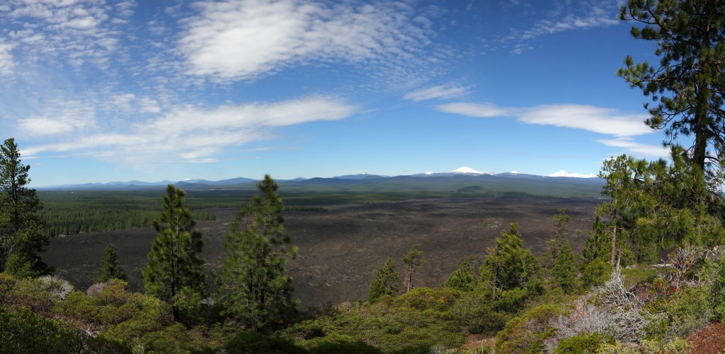 Facing west at the top of Lava Butte outside of Bend, OR