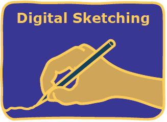 digital sketching icon