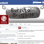 Burrito Brigade Facebook page screenshot
