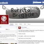 Burrito Brigade Facebook page screenshot