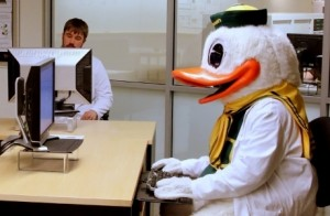 UO Information Services is located in 151 McKenzie Hall. Duck gear optional.
