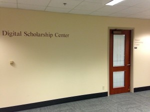 The Digital Scholarship Center is located in Knight Library, Room 142.