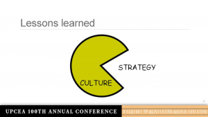 The relationship between culture and strategy at most institutions, including MU.