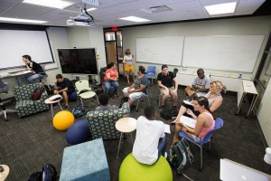 Faculty collaborate in the VCU ALT Lab's Incubator Classroom.