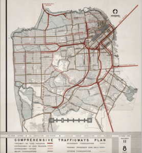 An image of a historic-looking map of San Francisco