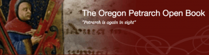screen shot of website with historic painting and text that says The Oregon Petrarch