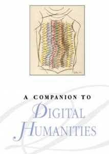 A screen shot of A Companion To Digital Humanities website picturing what appears to be a multi-colored cloth