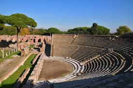 Roman Theatre Located in Ostia Actica