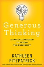 yellow book cover of Generous Thinking
