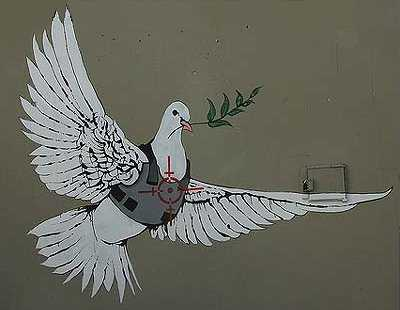 Armored Dove Of Peace Banksy In Palestine