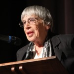 Ursula K Le Guin reading an original piece at the CSWS 40th Anniversary keynote.