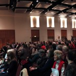 Panoramic shot of the audience at the CSWS 40th Anniversary Keynote.