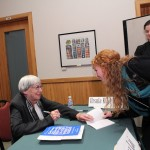 Shannon Bell obtains an autograh from Ms. Le Guin.