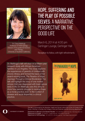 March 6 - Hope, Suffering and the Play of Possible Selves ...
