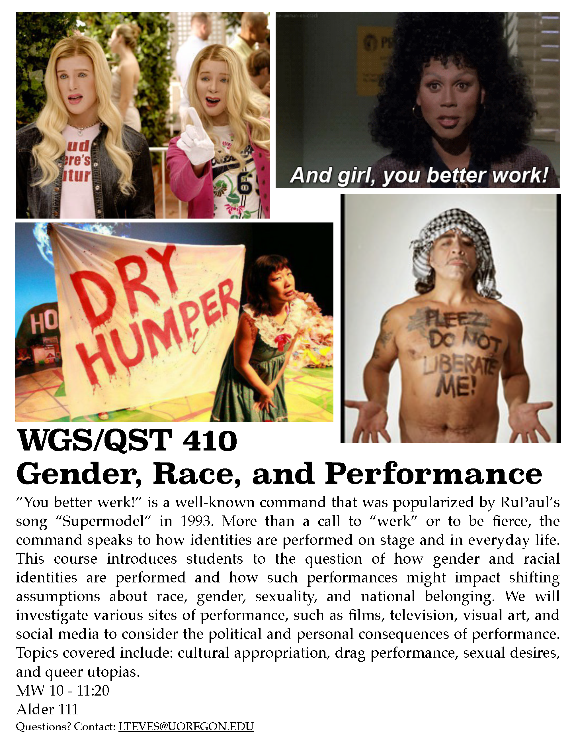 Flyer for WGS 410