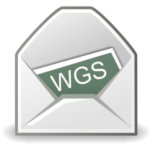 Graphic of a newsletter in an envelope