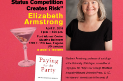 Flyer for Elizabeth Armstrong lecture