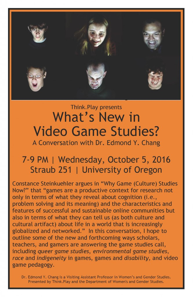 poster for what's new in video game studies