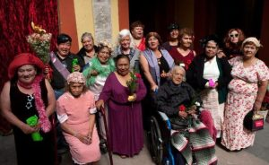 Group photo of sex workers in Mexico