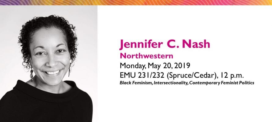 Jennifer C. Nash Lecture: Love Letter from a Critic, or Notes on the Intersectionality Wars