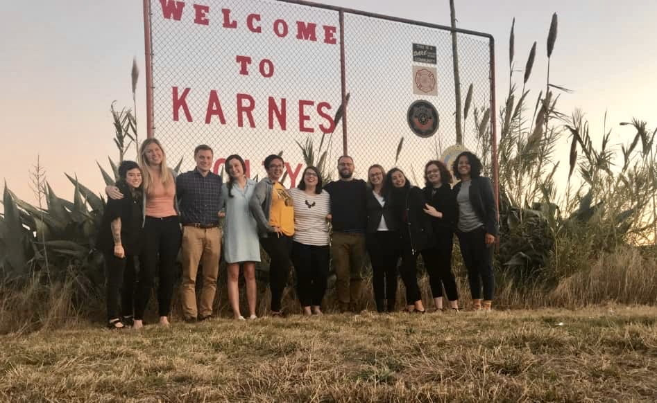 UO Law students in Karnes Texas