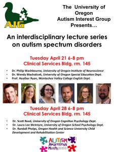 2015 Autism Speaker Series flyer