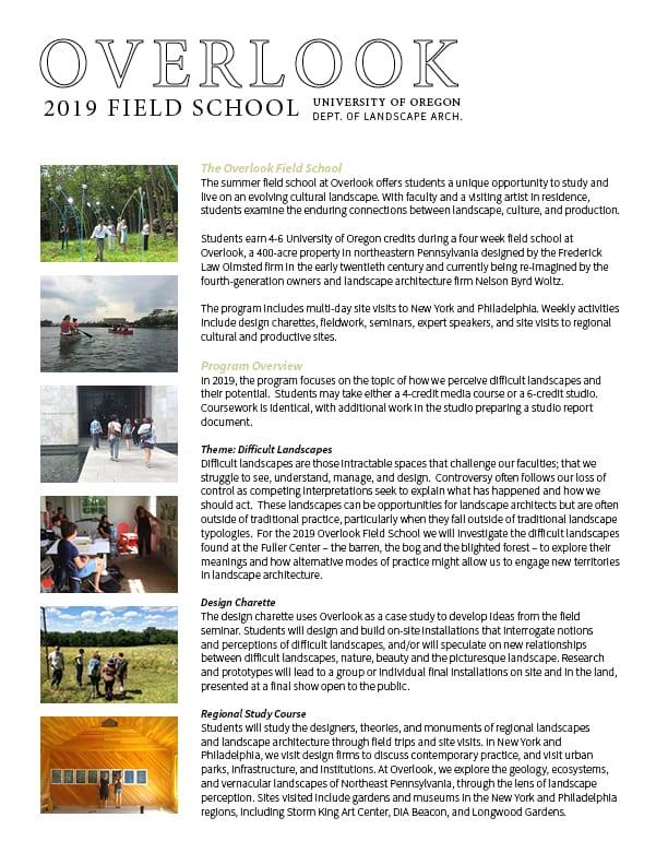 Overlook Field School | Fuller Center for Productive Landscapes
