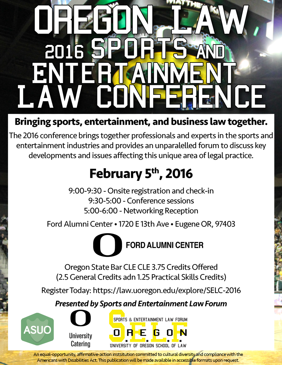 Sports Law Conference Flier 2016