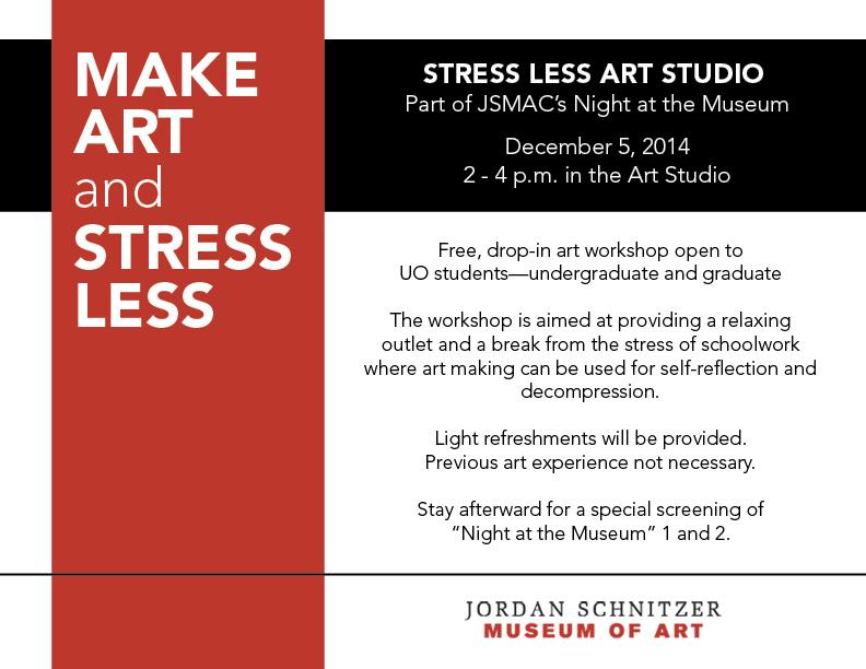 Fall 2014: Stress Less Art Studio
