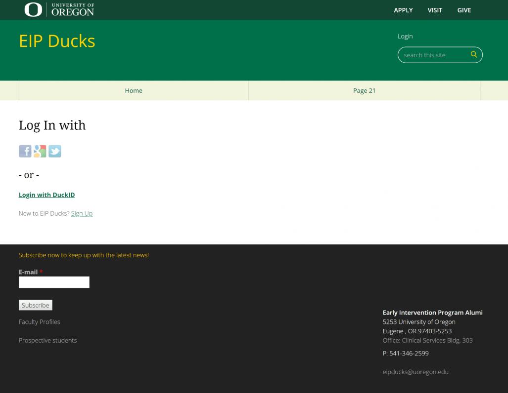 EIP Ducks website screenshot