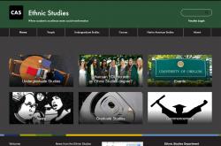Ethnic Studies website screenshot