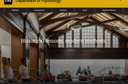 Department of Psychology website screenshot