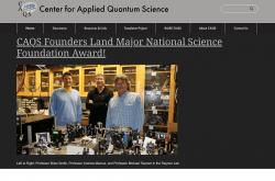 Center for Applied Quantum Science website screenshot
