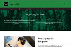 Linguistics 2019 website screenshot