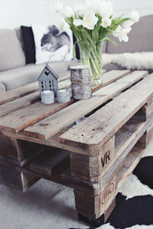 learn how to make your own coffee table out of an old pallet