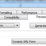 Screen Shot of the preview options, ensuring you use Dynamic XML Form
