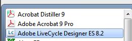 1. Open Adobe LiveCycle Designer