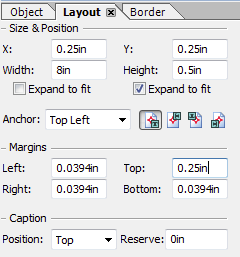 8c. Text field layout - update the height and top margin and caption reserve
