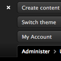 image of open admin menu