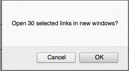 Do you want to open 30 selected links in a new window?