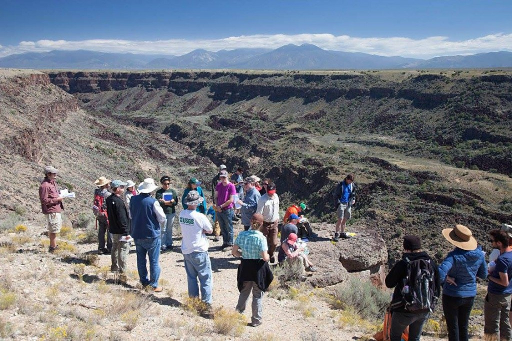 UO group getting introduced to the Rio Grande Gorge and toreva slump blocks