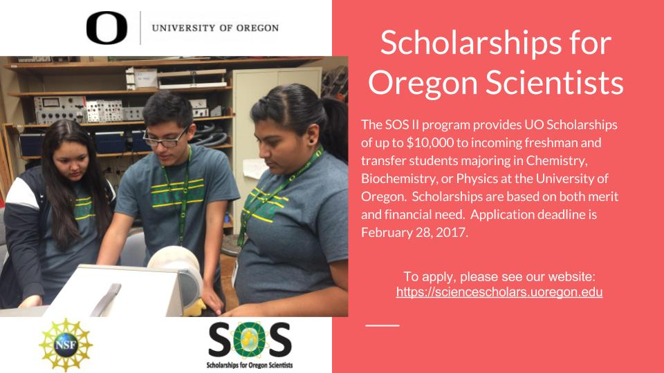 Scholarships for Oregon Scientists