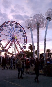 2010 Treasure Island Music Festival: ferris wheel and art installations Wish by Robert Buchholz