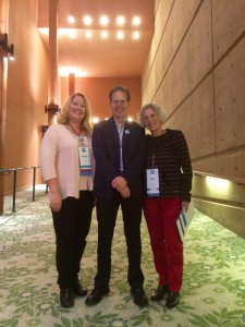 AAD Program Directors. Patricia Dewey Lambert, Doug Blandy, Linda Ettinger. AAD 20th Anniversary Reunion, October 2014, Hult Center for the Performing Arts, Eugene, OR.